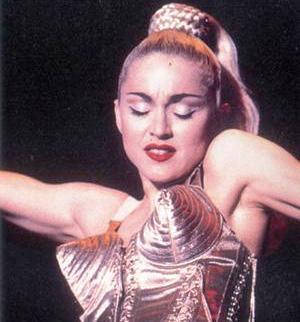 Madonna sexy pointed bras