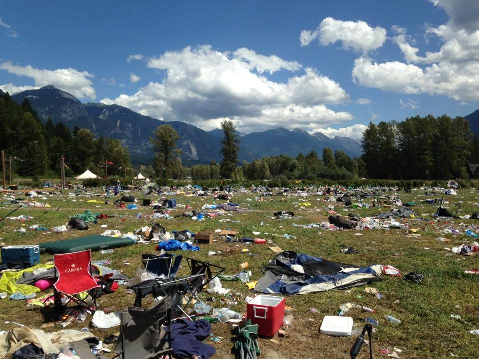 Photos Pemberton Music Festival Creates Field Of Trash