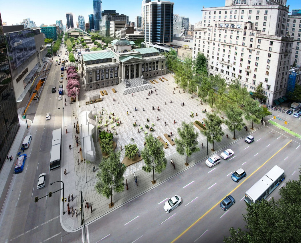 City Unveils New Design For A More Open North Plaza Of The