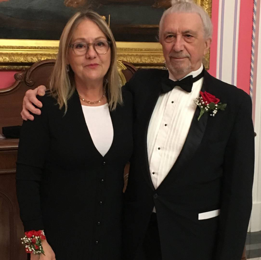 Landon Mackenzie and Glenn Lewis receive their national awards at Rideau Hall awards ceremony