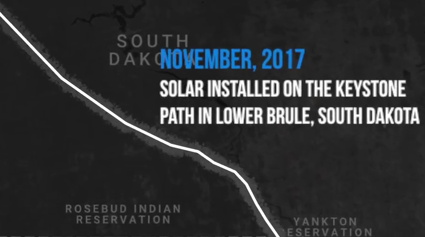 Video: Renewable energy activists install solar power projects along pipeline path