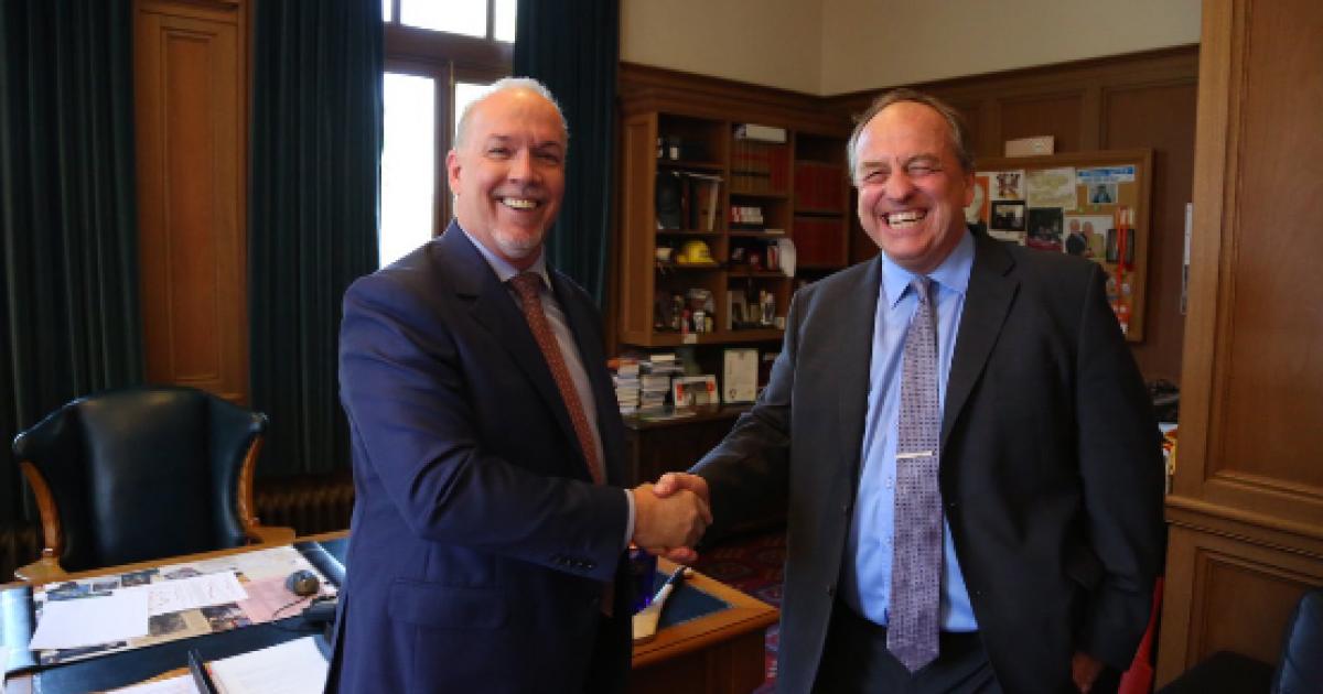 Martyn Brown: If Premier Horgan were smart, he'd ask Andrew Weaver to sit in cabinet