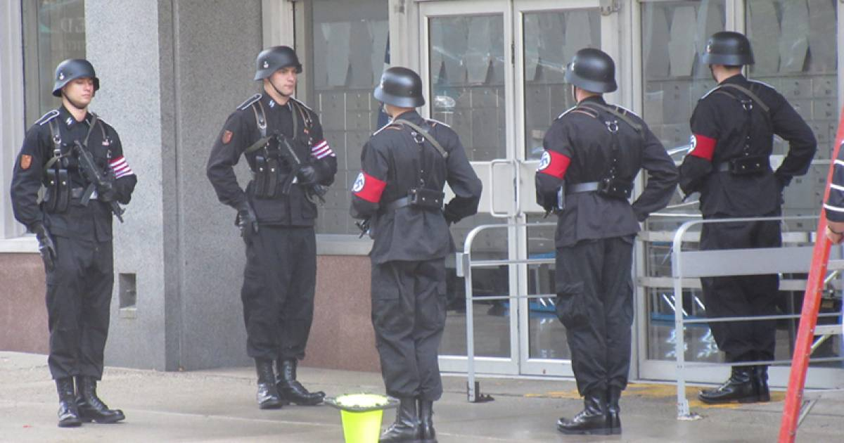 Uniformed Nazis in downtown Vancouver for filming of The Man
