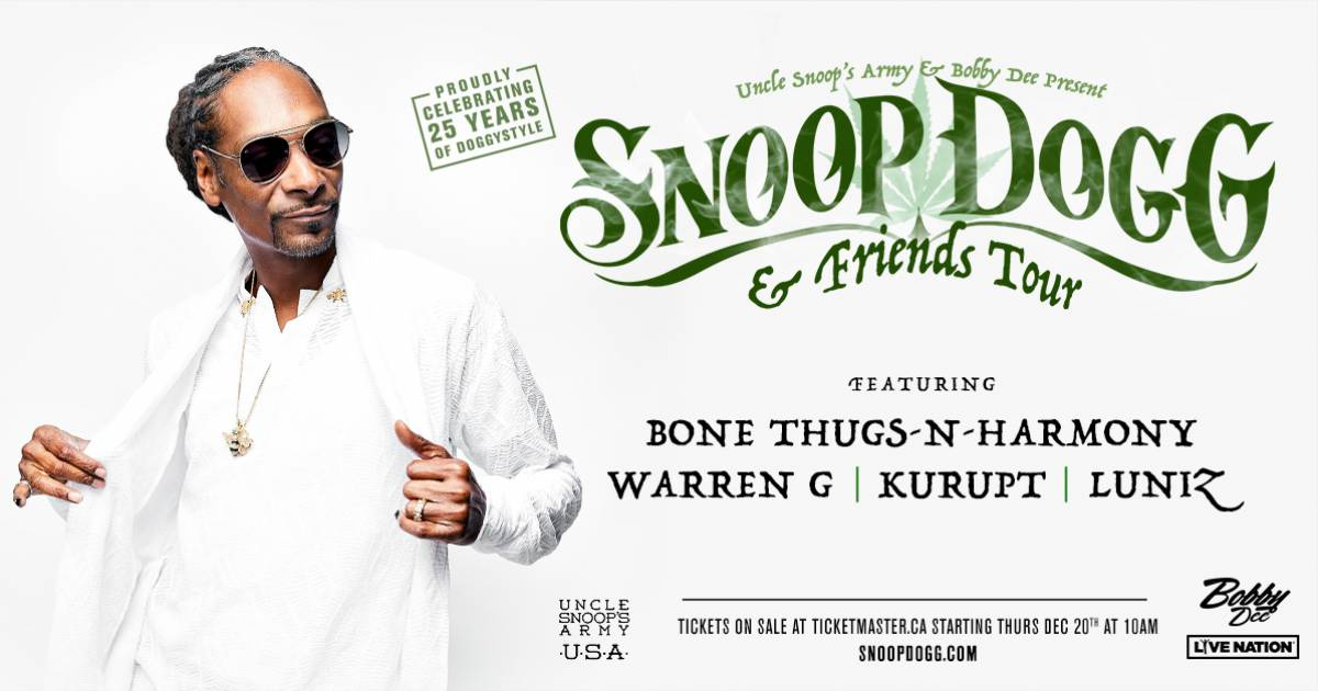 Snoop Dogg and Friends play Vancouver this winter | Georgia