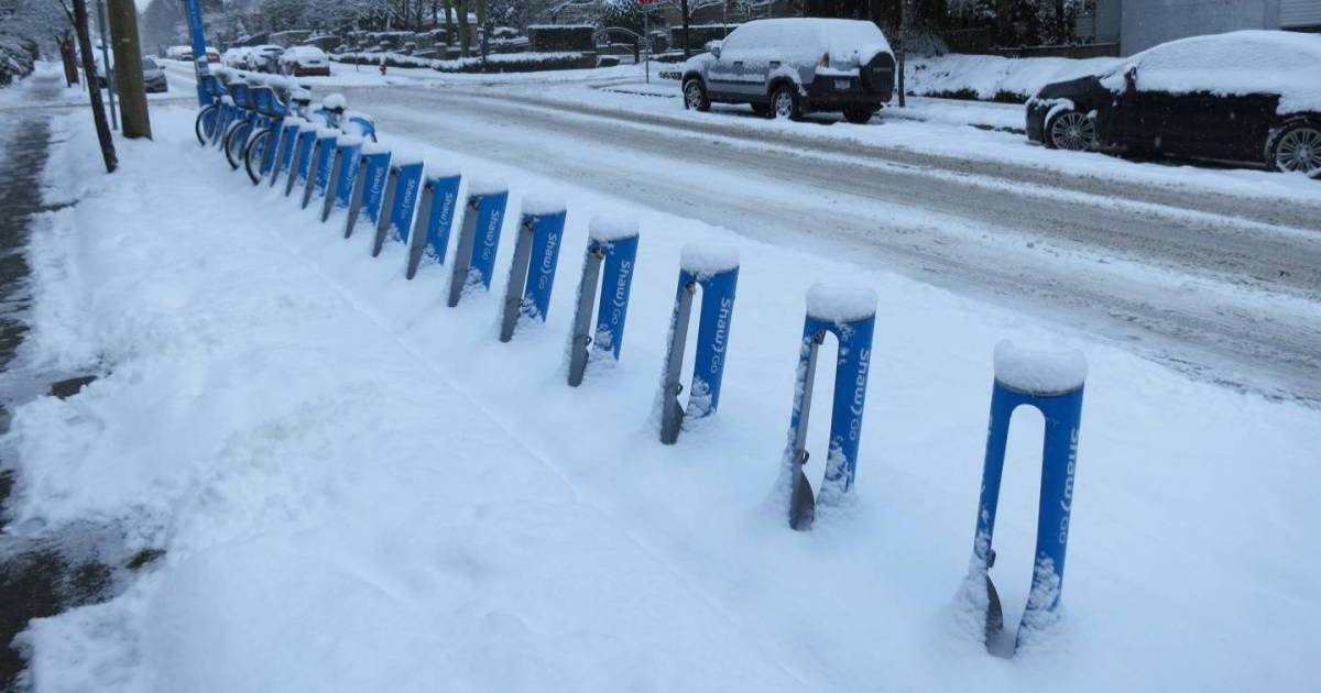 Environment Canada says up to 20 centimetres of snow will come to parts of Metro Vancouver