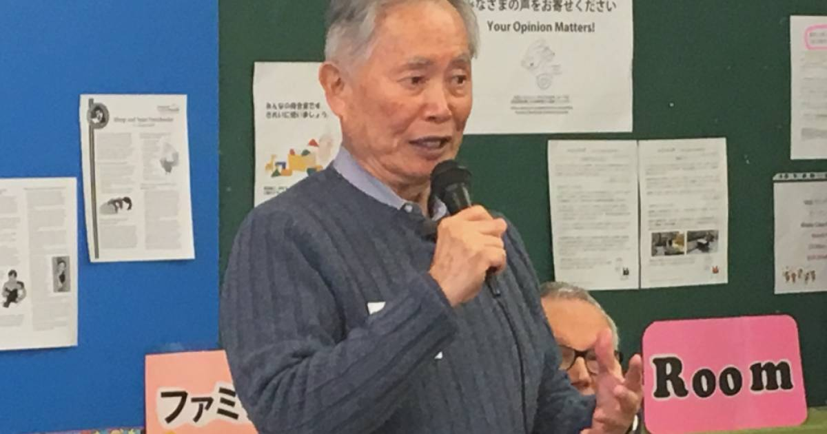 Human-rights activist George Takei learns about Japanese Canadian history while touring Vancouver's Japantown