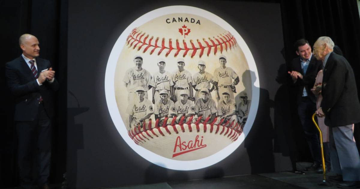 Canada Post Unveils Vancouver Asahi Baseball Stamp At