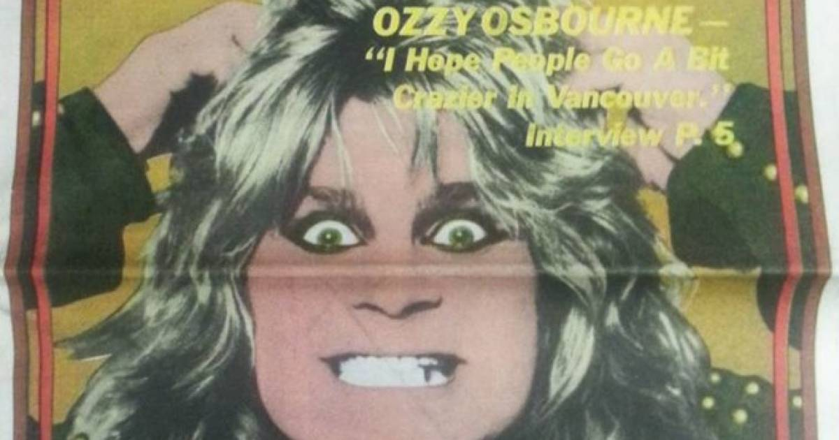 Ozzy Osbourne tweets old Georgia Straight cover