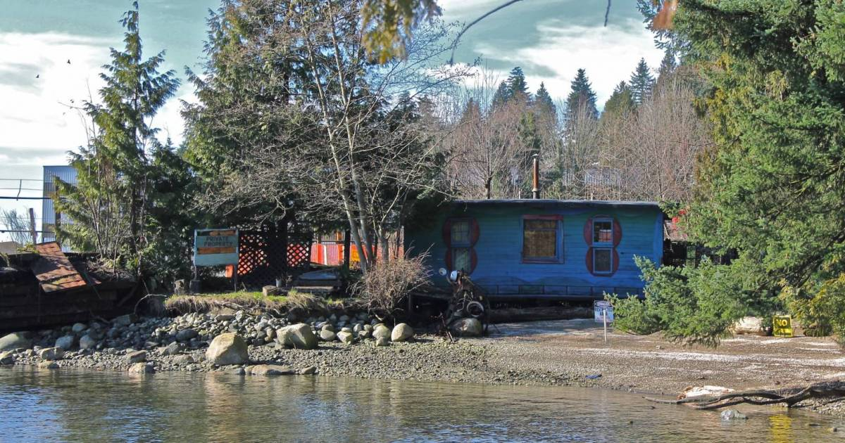 Blue Cabin Floating Artist Residency headed for False Creek in August