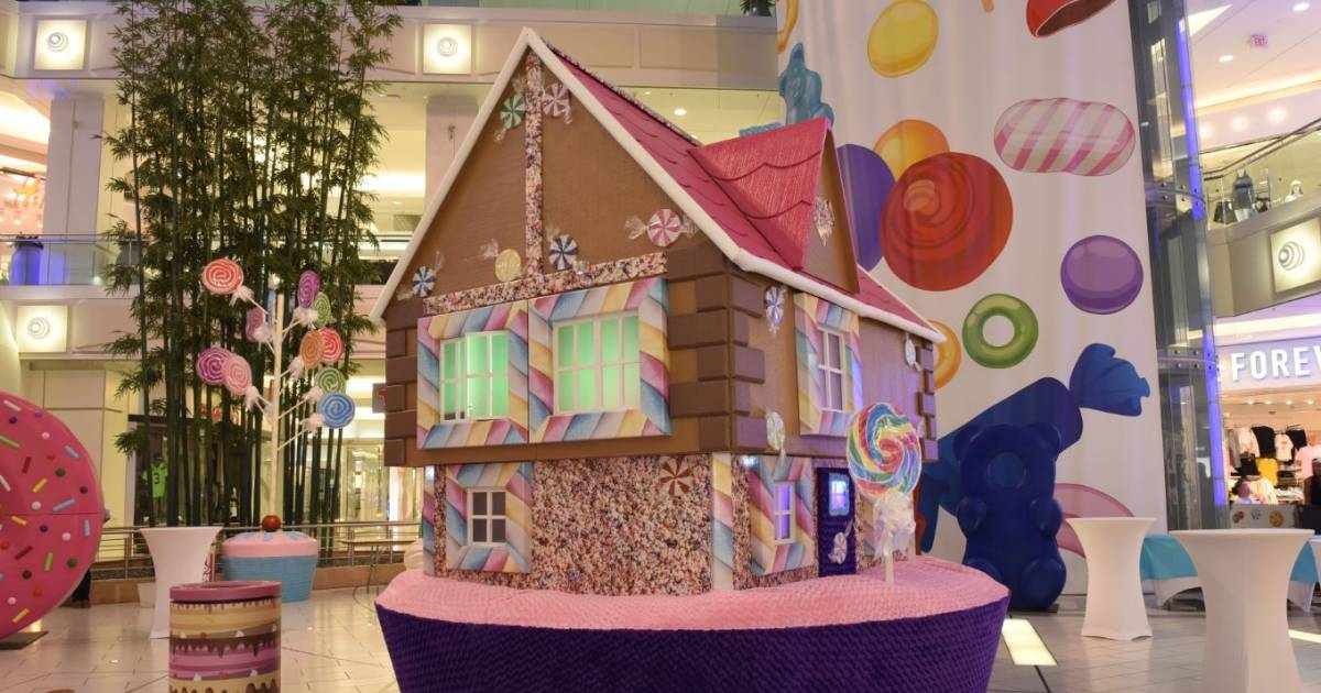 An 8-foot pretzel and 10-foot lollipop tree are coming to Metrotown for a snack-themed exhibition