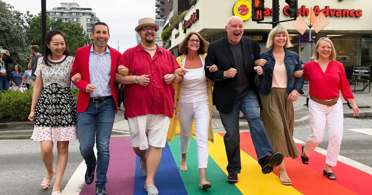 City of North Van reinforces progressive street cred with new rainbow