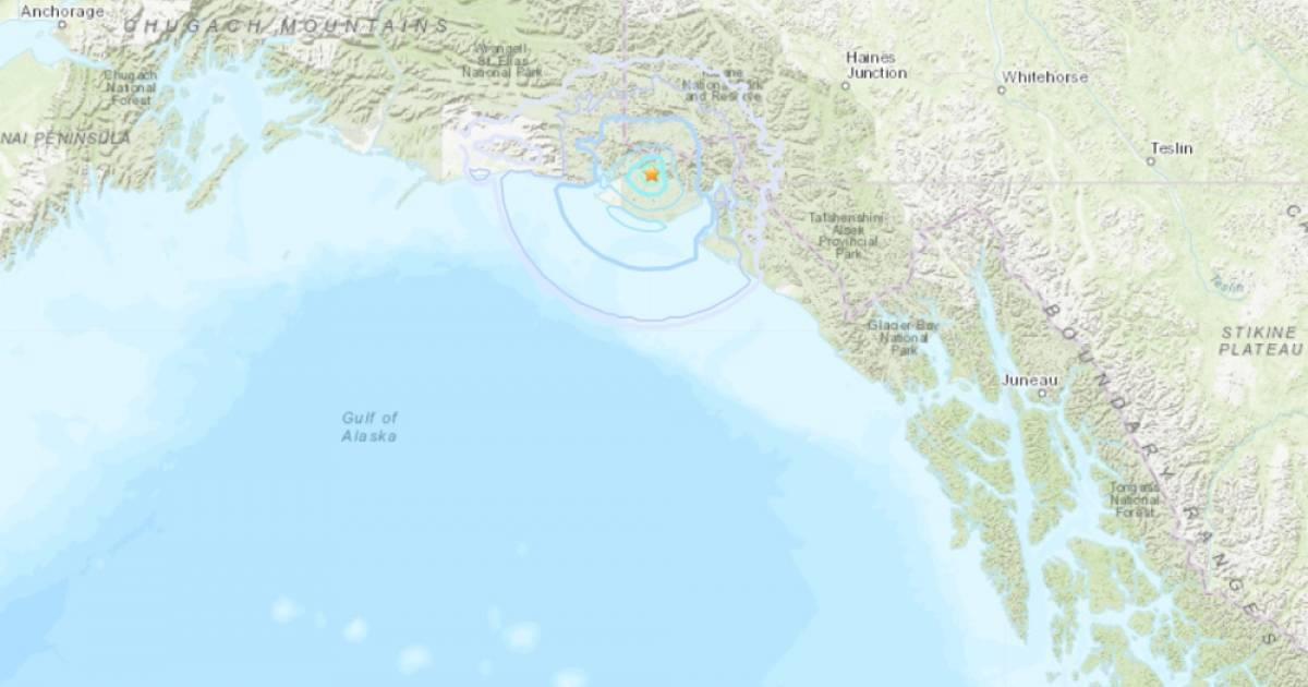 More earthquakes occur in Alaska Panhandle near Yukon border