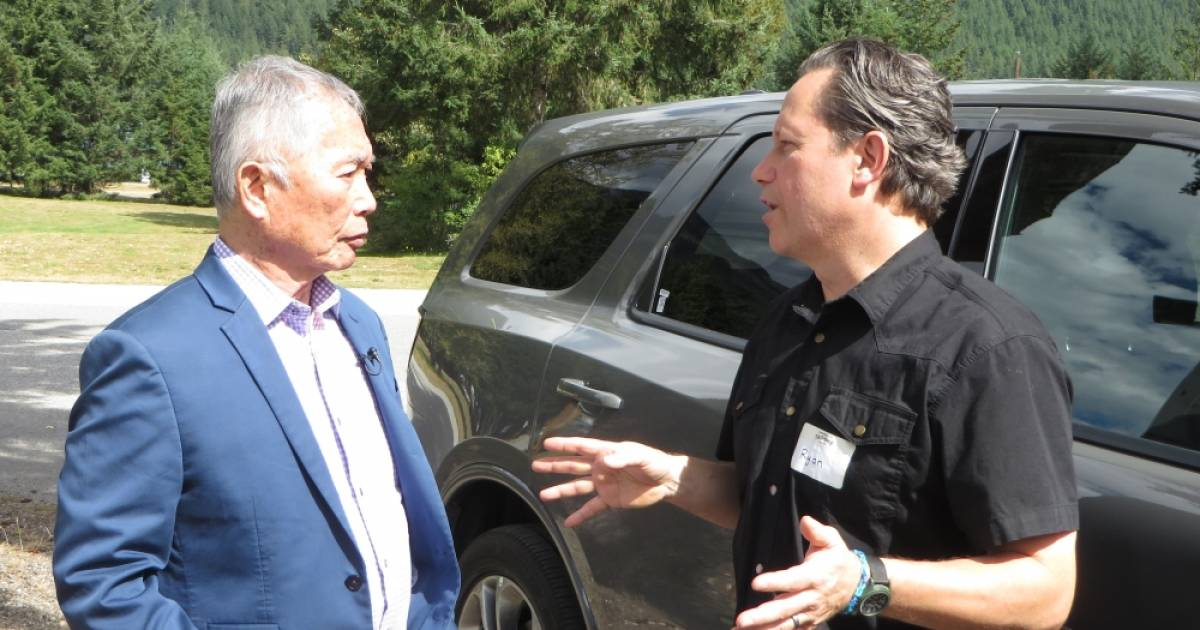 Activist George Takei visits Japanese Canadian internment site while fearing Trump is repeating historic U.S. injustices