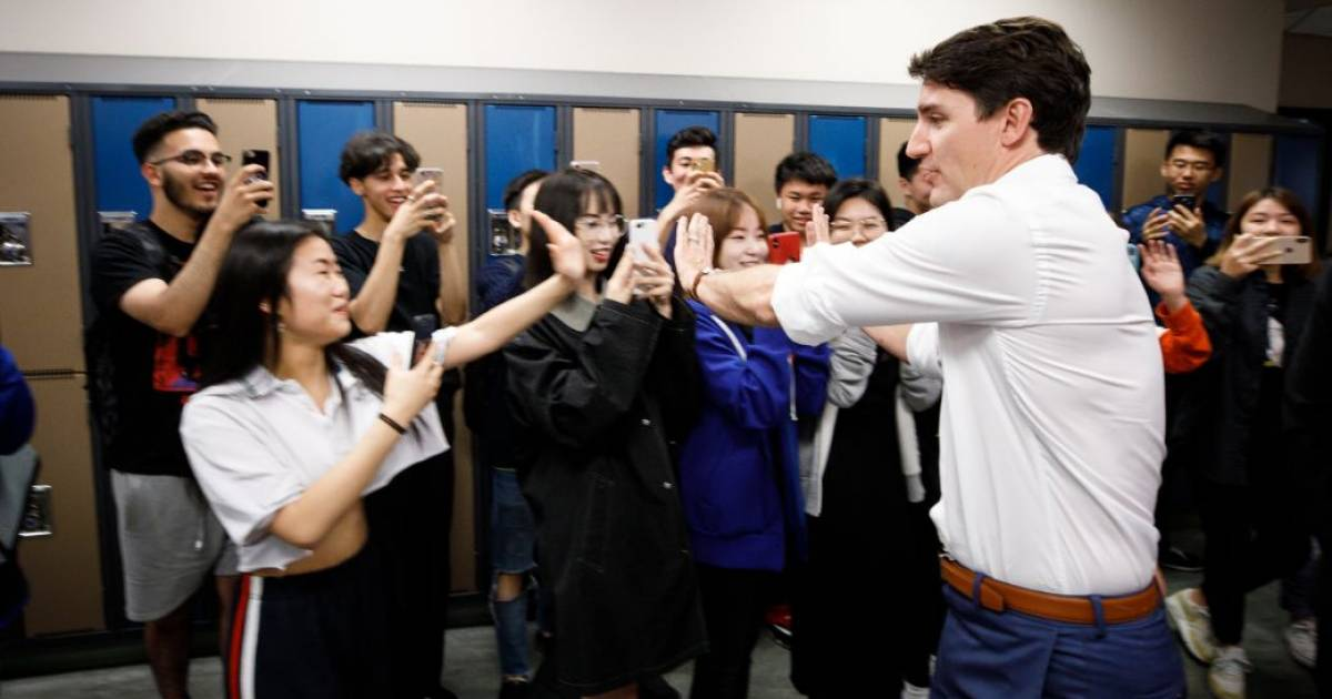 Report cards and letter grades for Trudeau, Scheer, Singh, May, Bernier, and Blanchet