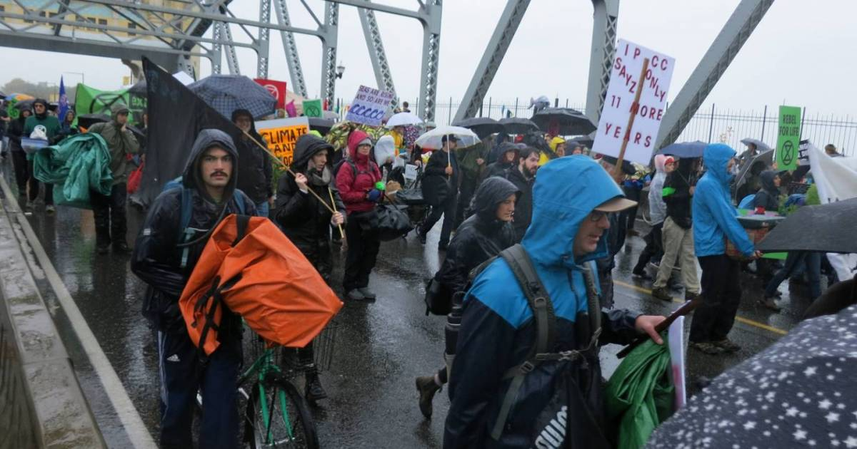 With 10 arrests on Burrard Bridge, Extinction Rebellion is just getting started in Vancouver