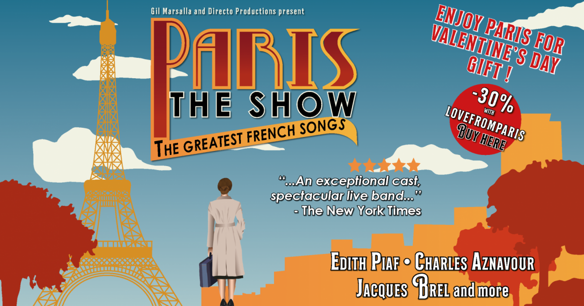 The greatest French songs come to life in...