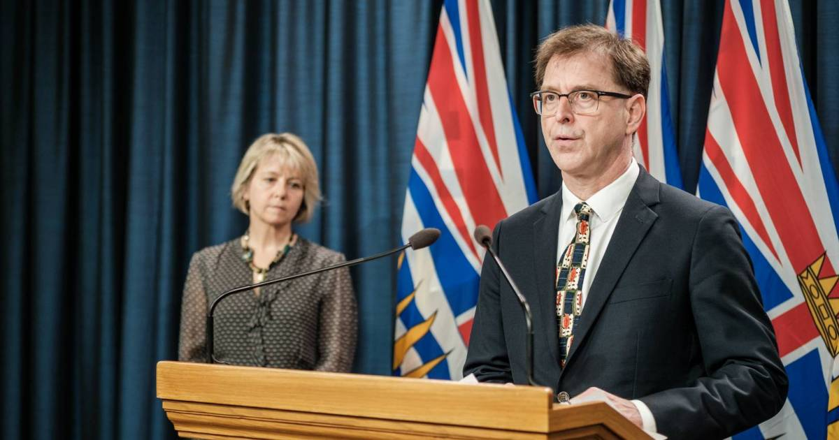 B.C. health minister Adrian Dix reveals 3,632 acute care beds are now empty in preparation for COVID-19 cases