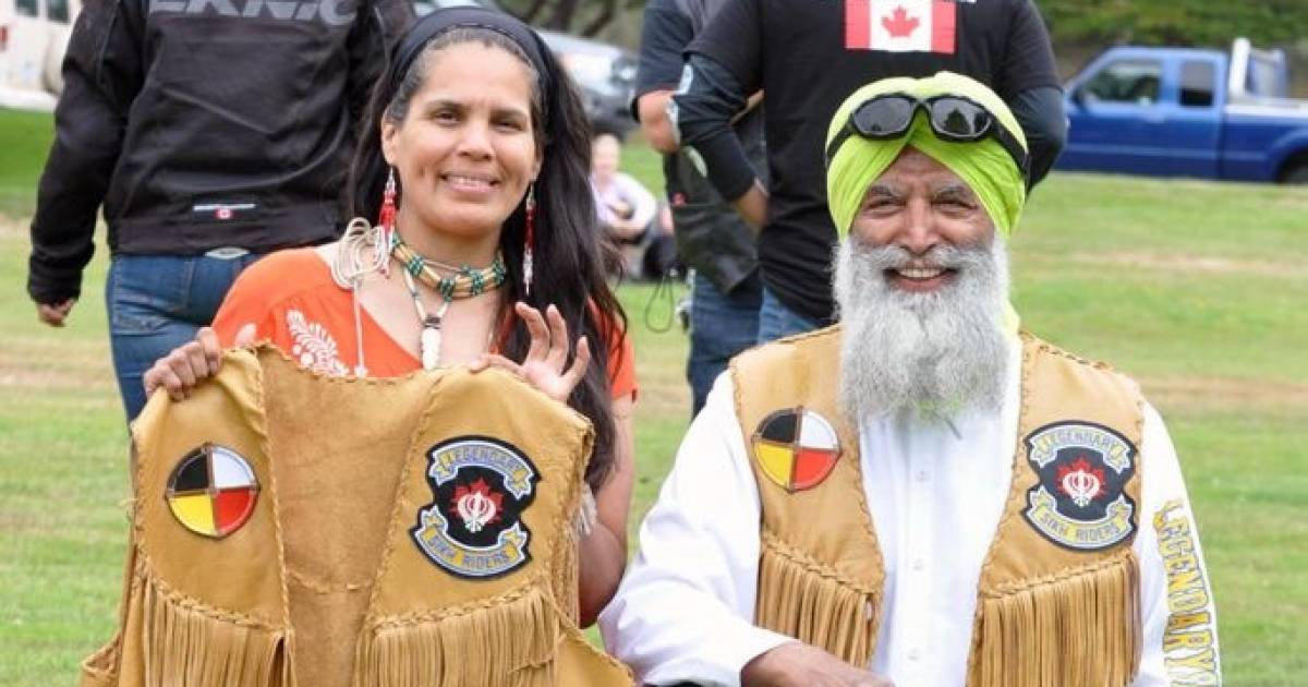 Gurpreet Singh: First Nations woman makes vests for Sikh bikers who stood with Indigenous people