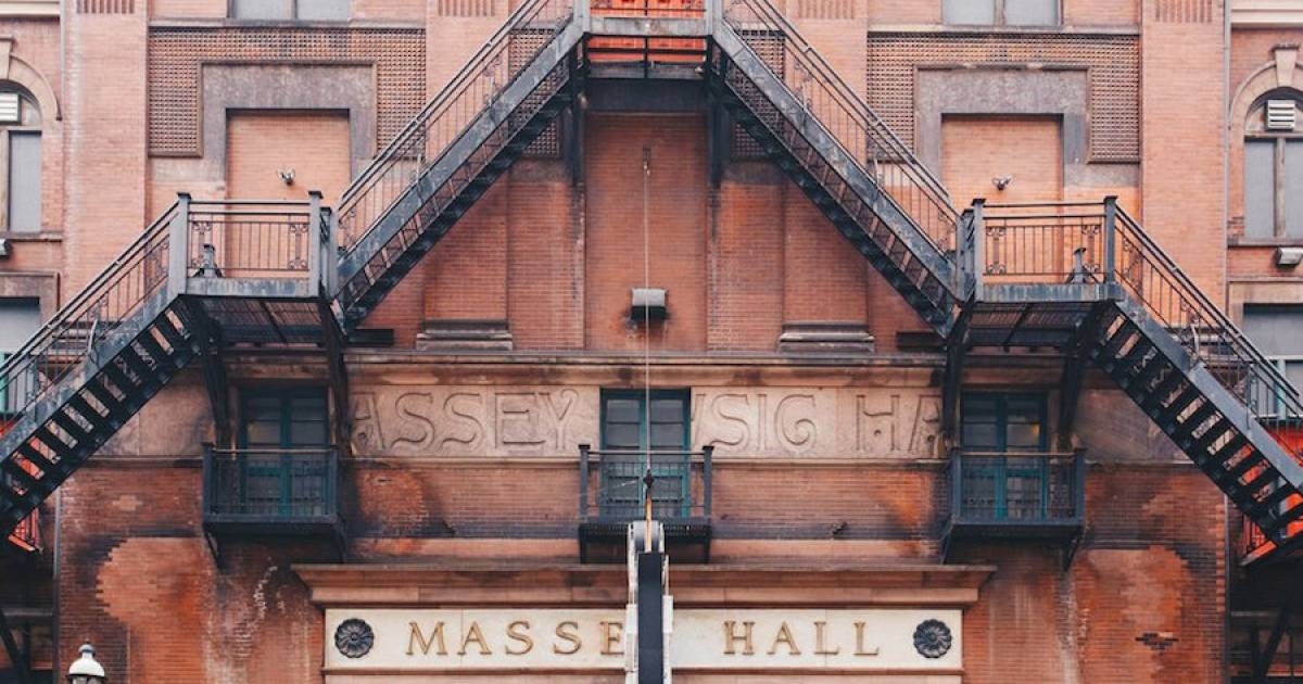 A book about Massey Hall is coming out in November