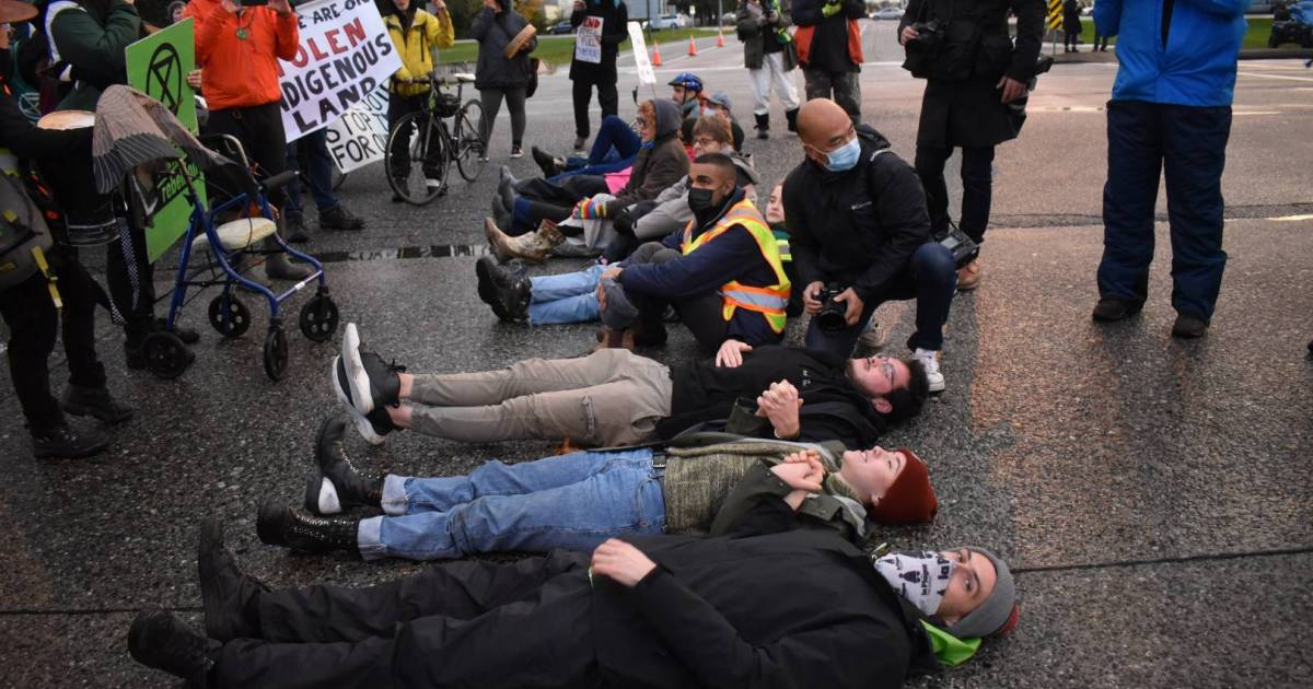 Extinction Rebellion Vancouver breaks through a near-media blackout by halting traffic to the airport