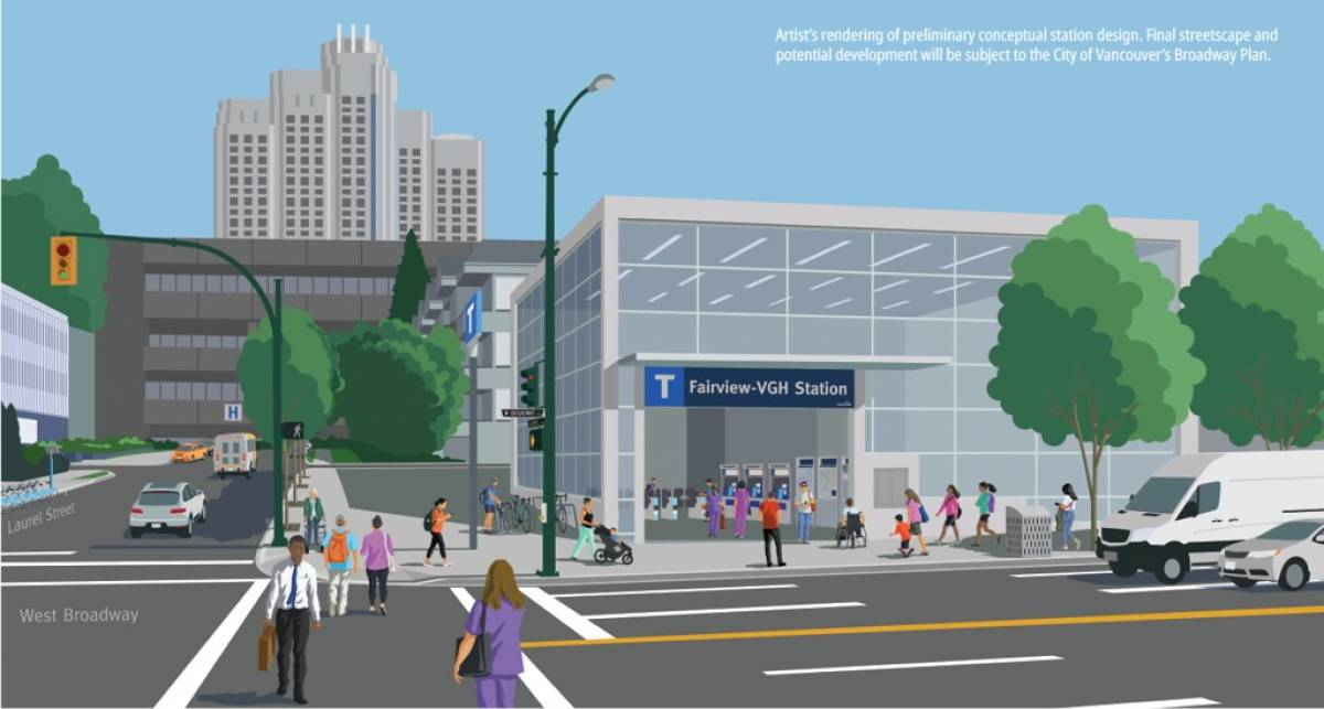 Fairview VGH-Station will provide easy access to Vancouver General Hospital and the central section of the Broadway Corridor.