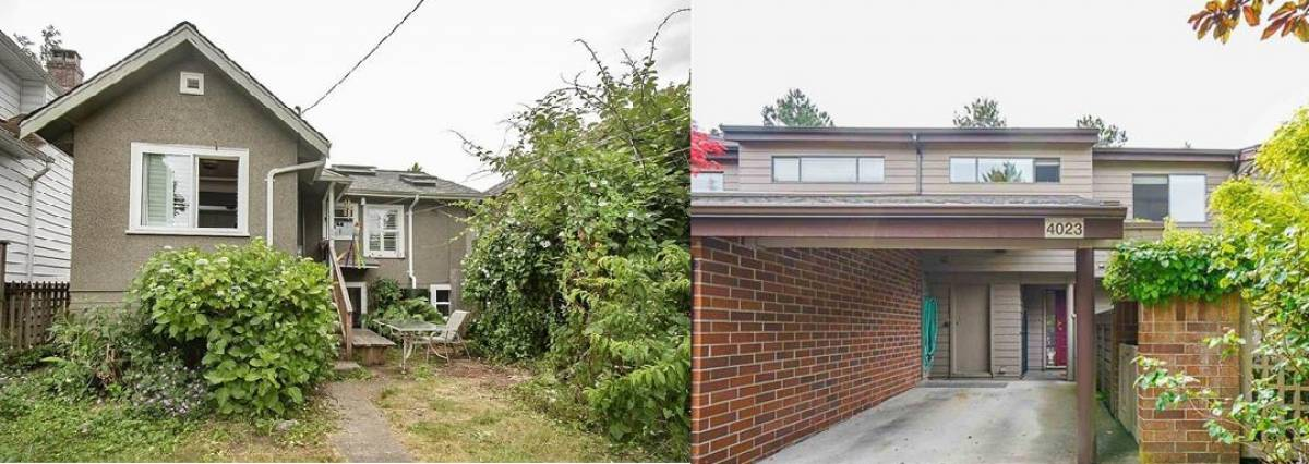 The detached home (left) at 4417 West 16<sup>th</sup> Avenue sold for $2 million on July 13, 2021, and the townhouse (right) at 4023 Vine Street, also on the west side of the city, sold for $2,150,000 on July 4.